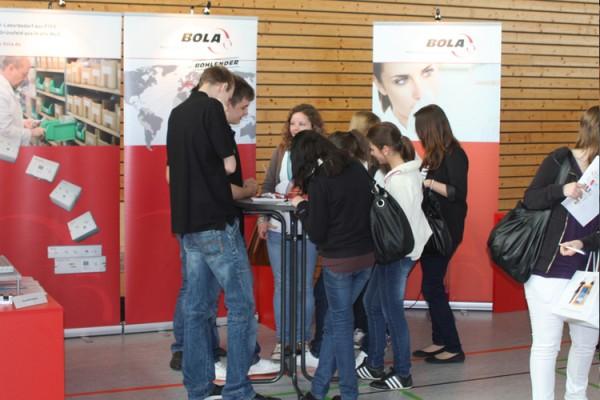 Rekordbesuch auf dem BOLA-Stand anläßlich der Bildungsmesse 2011
