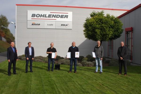 100 Jahre Betriebszugehörigkeit bei BOHLENDER