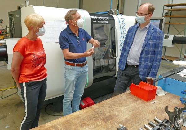 Besuch von Bürgermeister Dr. Lukas Braun und Sabine Baumeister