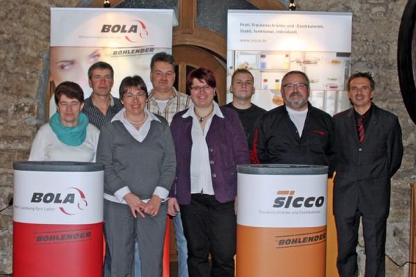 Weichen auf Zukunft gestellt und Mitarbeiterehrungen bei der Jahresabschlussfeier 2012