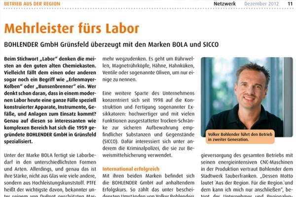 """BOHLENDER im """"Netzwerk"""" der Stadtwerke Tauberfranken"""