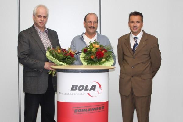 30-jähriges Betriebsjubiläum mal 2 – Bohlender ehrt verdiente Mitarbeiter