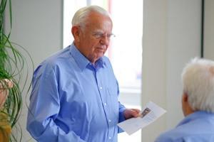 Seniorchef feiert seinen 80. Geburtstag