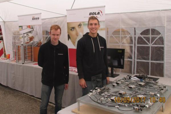 Infostand der BOHLENDER-Azubis auf der Gewerbeschau in Grünsfeld