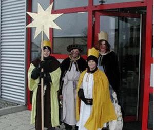 Sternsinger der Kirchengemeinde Grünsfeld zu Besuch
